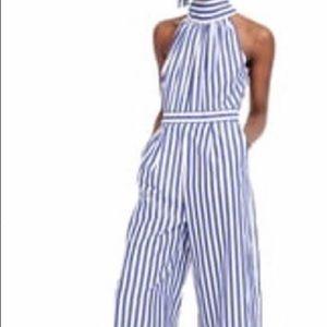 J Crew striped jumpsuit